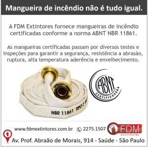mangueiras de incêndio certificadas conforme a norma ABNT NBR 11861